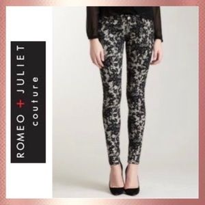 NWT Romeo & Juliet Couture Lace Skinny Jeans 27 4